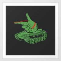 Rubber Artillery Art Print