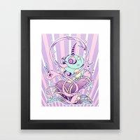 Fantasy Chameleon Framed Art Print