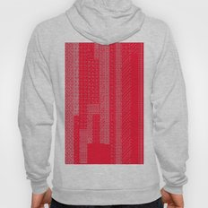 White Over Red Hoody