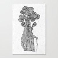 the old treebeard & the blind owl Canvas Print