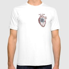 In My Heart SMALL White Mens Fitted Tee