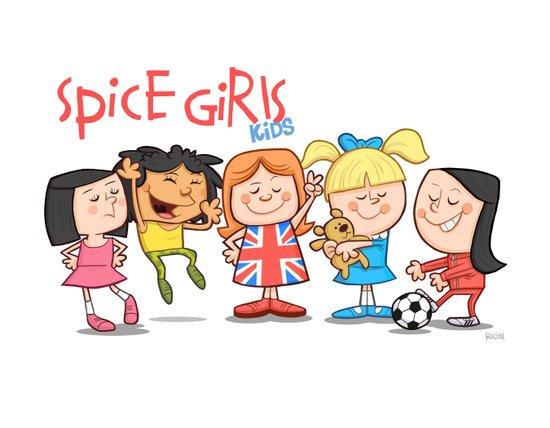 Spice Girls Kids Art Print