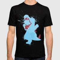 Totodile Splat Mens Fitted Tee Black SMALL