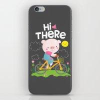 Pig On A Bike iPhone & iPod Skin