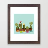 Cacti Gang Framed Art Print