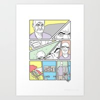 Gas Blues Art Print
