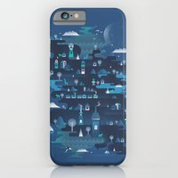 iPhone Cases featuring Land of the Blue Mountains by dan elijah g. fajardo
