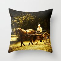 Throw Pillow featuring A Gentleman's Ride by Karol Livote