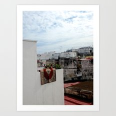 Carpet in Tangier  Art Print