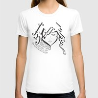 for those of you falling in love Womens Fitted Tee White SMALL