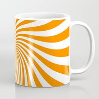 Swirl (Orange/White) Mug