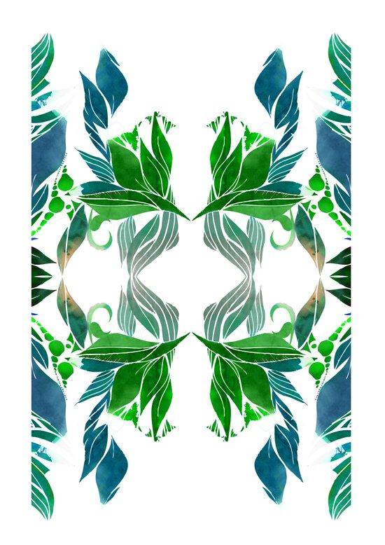 Art Nouveau Pattern  Art Print