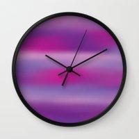 Purple Mist. Wall Clock
