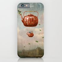 tea iPhone & iPod Cases featuring Tea for Two at Dusk by Paula Belle Flores