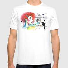 Lora Zombie SMALL White Mens Fitted Tee