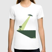 WTF? Ovni! Womens Fitted Tee White SMALL