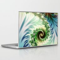 Fractal Blue Green 3 Laptop & iPad Skin