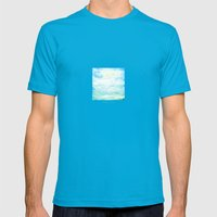 Ocean  Mens Fitted Tee Teal SMALL