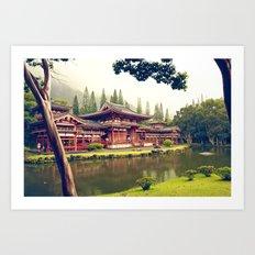 Byodo-In Temple/ Hawaii Art Print