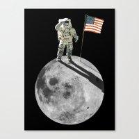 Man On Moon Canvas Print