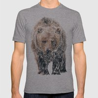Bear Mens Fitted Tee Athletic Grey SMALL