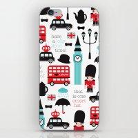 London Icons Illustratio… iPhone & iPod Skin