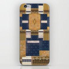 Blue Gold iPhone & iPod Skin