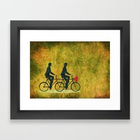 On Wheel Love Framed Art Print