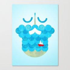 The Bearded Sea Canvas Print