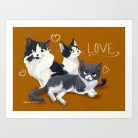 Meow Love Art Print