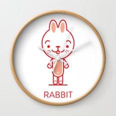 #34 Rabbit Wall Clock