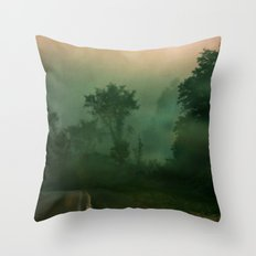 Jump in to the Fog Throw Pillow