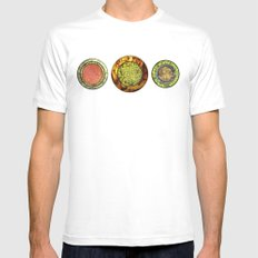 Food Mix Tris Mens Fitted Tee White SMALL