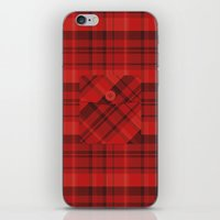 Plaid Pocket - Red iPhone & iPod Skin