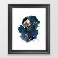 Zombie Skrillex / Specia… Framed Art Print