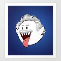 BooStein - Mario Boo and Einstein Mashup Art Print