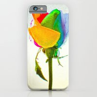 """iPhone & iPod Case featuring """"Rainbow Rose 3"""" by Creativemind06"""