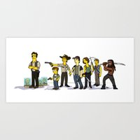 The Walking Dead Cast Art Print