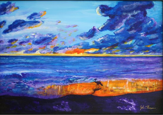 September sunset Art Print