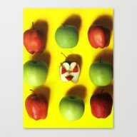 Canvas Print featuring Apple Bae-kini by Srartwork