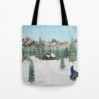 Christmas on the mountain Tote Bag
