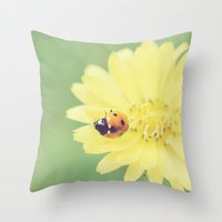 A Flower for My Lady Throw Pillow