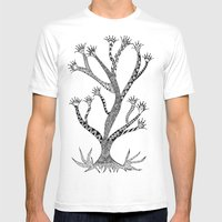 Alluring Tree Mens Fitted Tee White SMALL