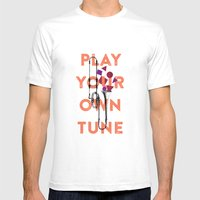 Play You Own Tune Mens Fitted Tee White SMALL