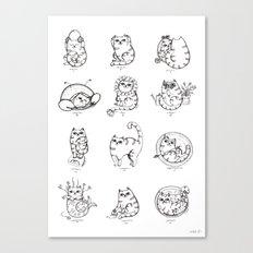 Zodiacats Canvas Print