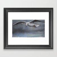 The seagull Framed Art Print
