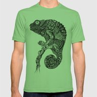 Chameleon  Mens Fitted Tee Grass SMALL