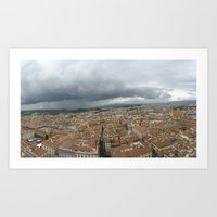 Florence in the Rain Art Print