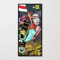 Coachella 2012 Collage Canvas Print