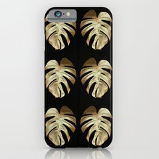 Gold Monstera Leaf Pattern Slim Case iPhone 6s